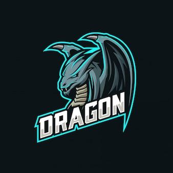 Logo e-sportowego smoka maskotki