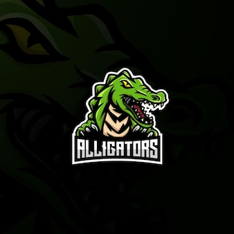 Logo e-sportowej maskotki aligatora.