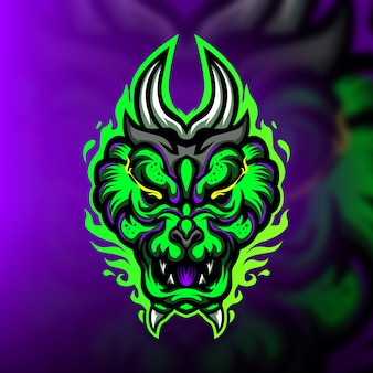 Logo e-sportowej maskotki do gier