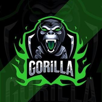 Logo e-sportowej maskotki goryla