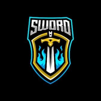 Logo e-sportowej maskotki miecza