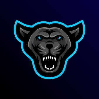 Logo e-sportowej maskotki panther