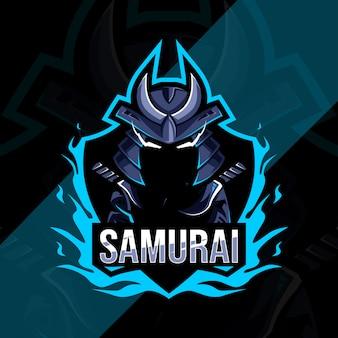 Logo e-sportowej maskotki samuraja