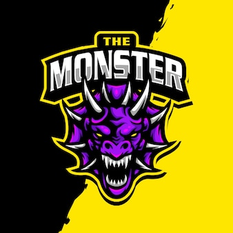 Logo e-sportowej maskotki smoka
