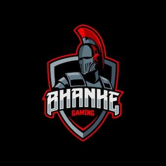 Logo e-sportowej maskotki spartan