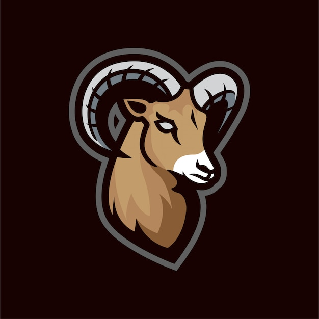 Logo e-sportowej maskotki z owczej kozy