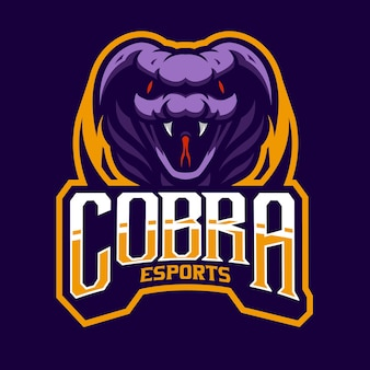 Logo e-sportu gniewnej kobry