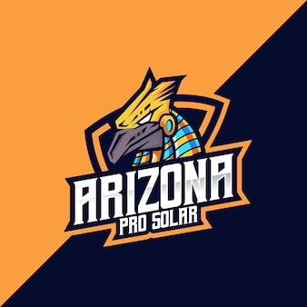 Logo e-sportu i sportu ptaków arizona