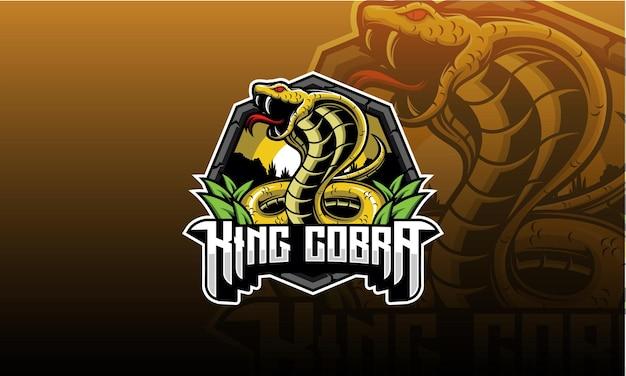 Logo e-sportu king cobra, logo z emblematem king cobra