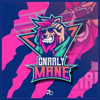 Logo e-sportu lion smile gaming