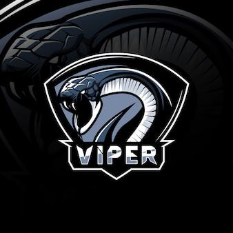 Logo e-sportu maskotka viper