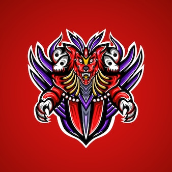 Logo e-sportu maskotka wild wolf gaming