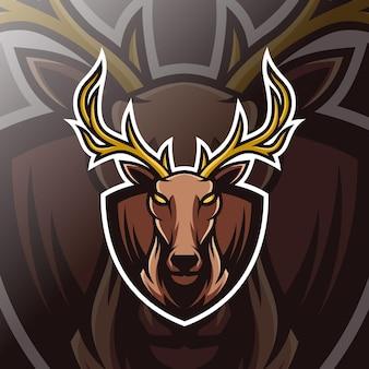 Logo e-sportu maskotki jelenia