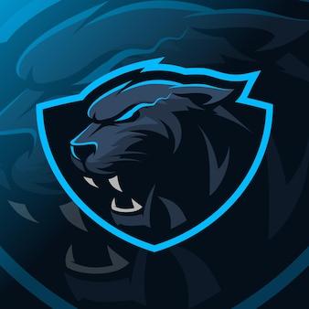 Logo e-sportu maskotki pantery