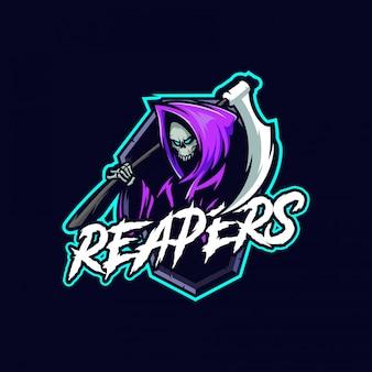 Logo e-sportu maskotki reapers