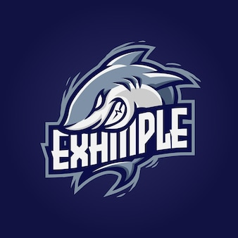 Logo e-sportu maskotki rekina