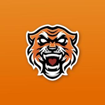Logo e-sportu maskotki tygrysa