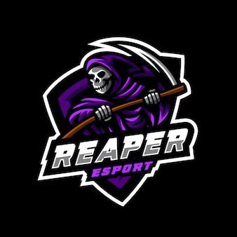 Logo e-sportu reaper maskotka