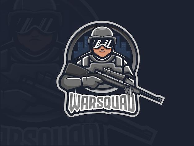 Logo e-sportu sniper soldier