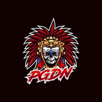 Logo E-sportu Tygrysa Premium Wektorów