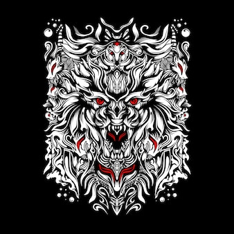 Logo e-sportu wilka niszczyciela