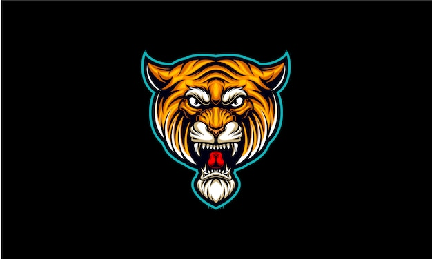 Logo e-sportu z głową tygrysa