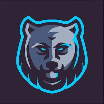 Logo e-sportu z głową wilka
