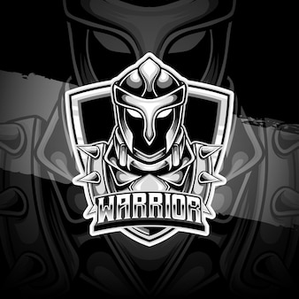 Logo e-sportu z ikoną postaci wojownika
