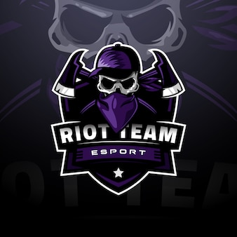 Logo e-sportu z maską z czaszką