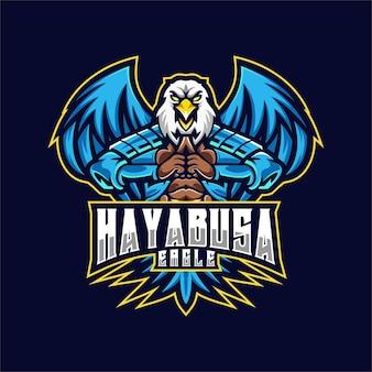 Logo eagle e sport i styl sportowy.