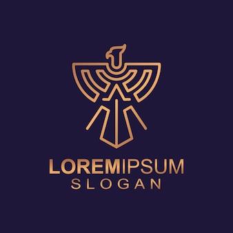 Logo eagle line art
