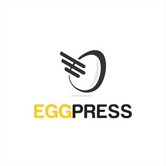 Logo ekspresowej dostawy żywności prosta zabawa