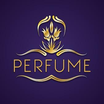 Logo eleganckich kwiatowych perfum