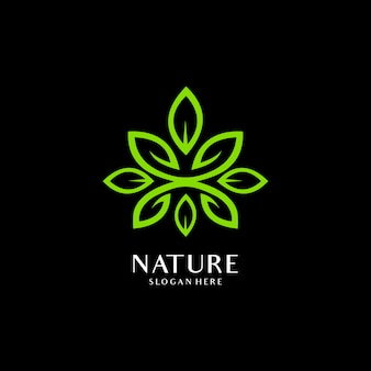 Logo elementu ekologia zielony liść natura