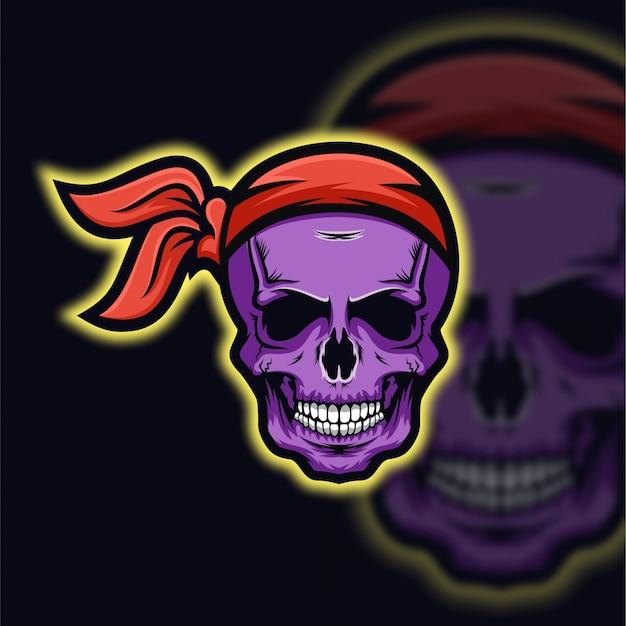 Logo esport czaszka piraci
