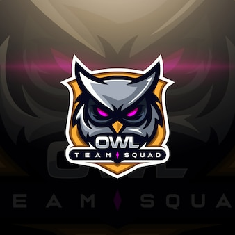Logo esport gaming head owl