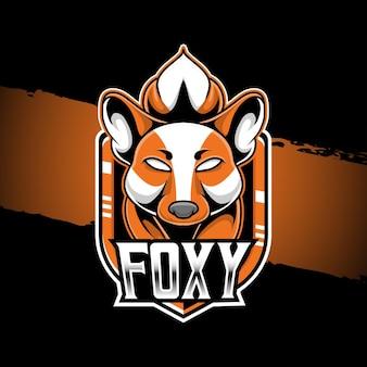 Logo esport ilustracja postać foxy