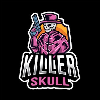 Logo esport killer skull
