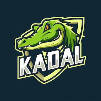 Logo esport krokodyla