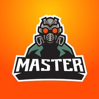 Logo esport maski przeciwgazowej
