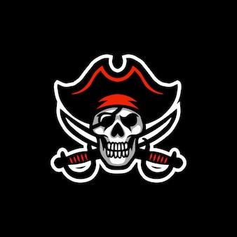 Logo esport maskotka piratów