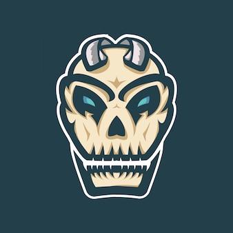 Logo esport maskotki czaszki zombie