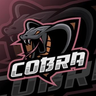 Logo esport maskotki kobry