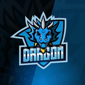 Logo esport maskotki smoka