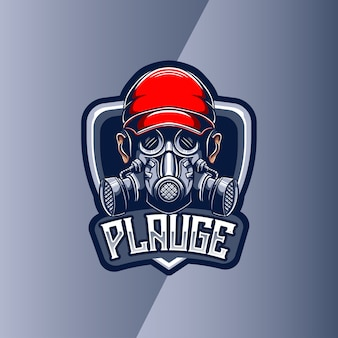 Logo esport z maską plauge maskotka