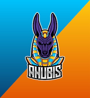 Logo esport z maskotką anubisa
