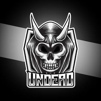 Logo esport z postacią nieumarłej czaszki