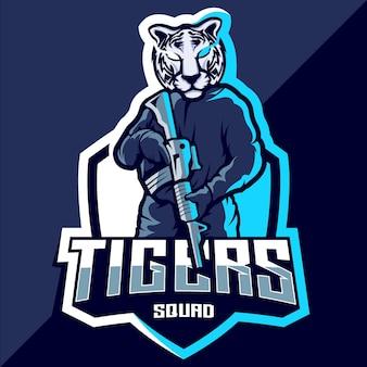 Logo esportowe drużyny tygrysów