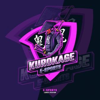 Logo esportowe kurokage samurajów