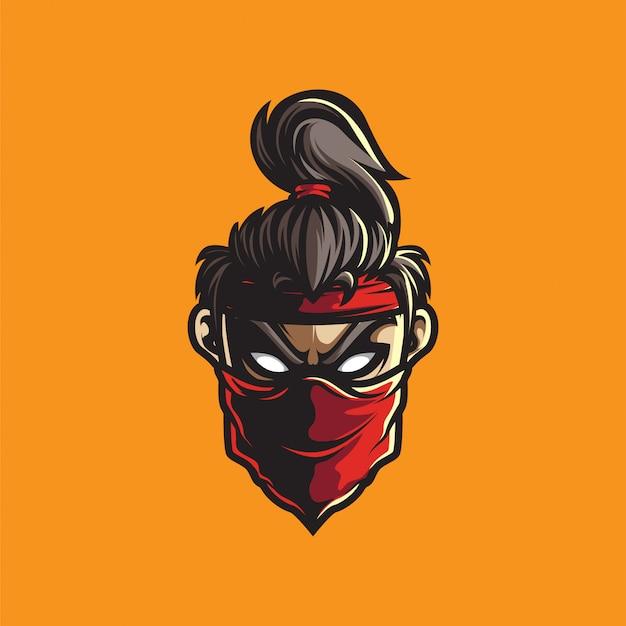 Logo esportowe ludzkiej głowy